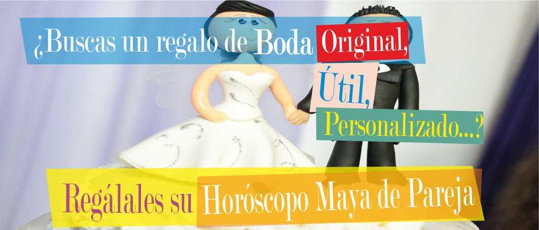 Magnífico regalo de Boda. Horóscopo Maya de Pareja personalizado.