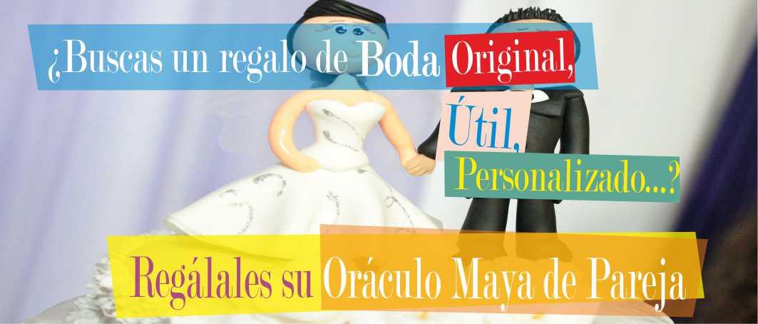 Magnífico regalo de Boda. Oráculo Maya de Pareja personalizado.